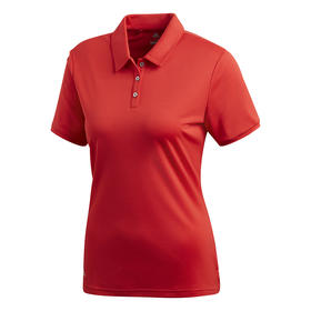 adidas women's performance short sleeve polo - collegiate red