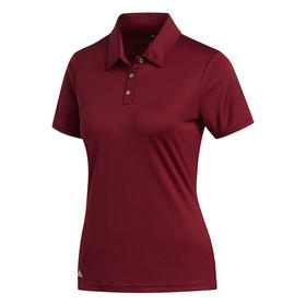 adidas women's performance short sleeve polo -  burgundy