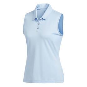 adidas women's performance sleeveless polo - clear sky