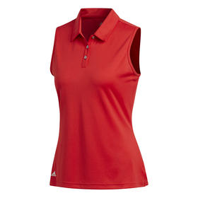 adidas women's performance sleeveless polo - collegiate red