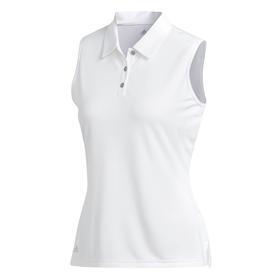 adidas women's performance sleeveless polo - white