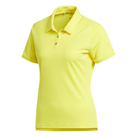 adidas women's performance short sleeve polo - bright yellow