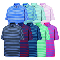footjoy performance lisle 2-color stripe shirt