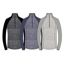 adidas women's heathered half zip layering