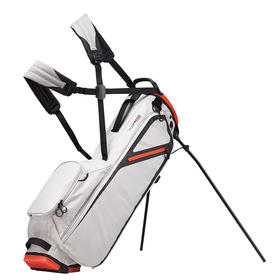 taylormade® custom flextech lite stand bag - silver/blood orange