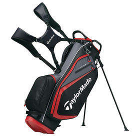 taylormade® select plus stand bag - black/charcoal/red