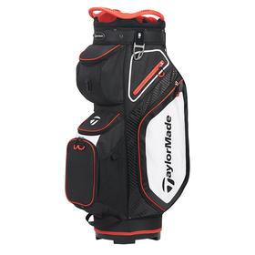 taylormade® cart 8.0 cart bag - black/white/red