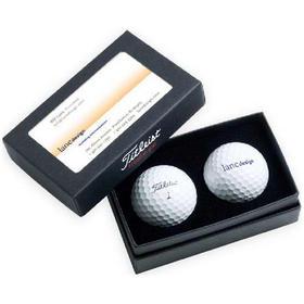 titleist standard 2 ball business card box with dt trusoft