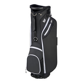 wilson w cart bag - black/white