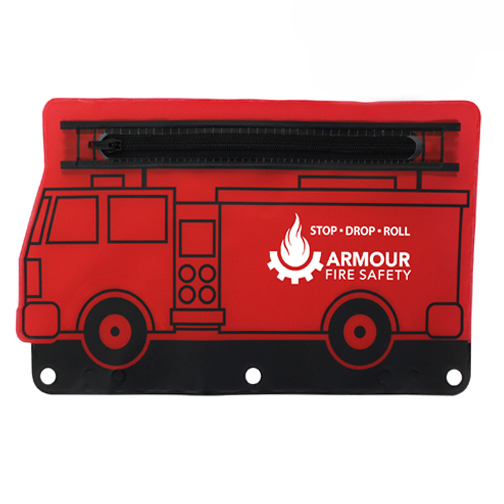 Fire Engine School Pouch