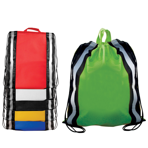 Blank, NW Reflective Drawstring Backpack