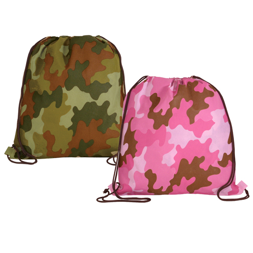 Blank, NW Camo Drawstring Backpack