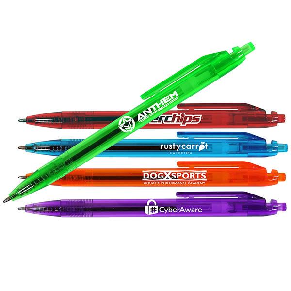 Translucent Quest Click Pen- Closeout