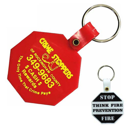Octagon Key Tag