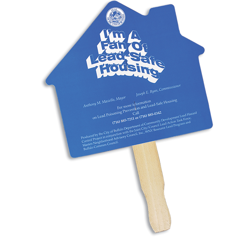 House Shaped Hand Fan