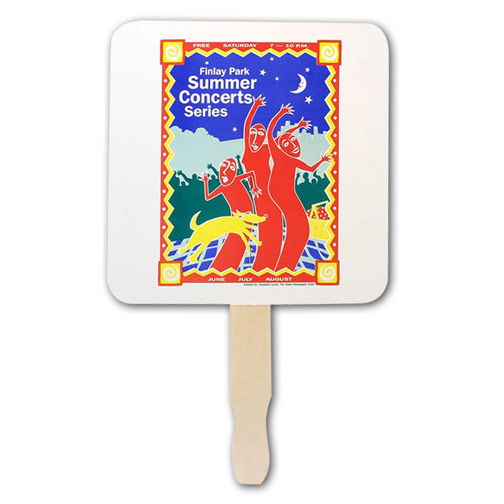 Square Shaped Hand Fan