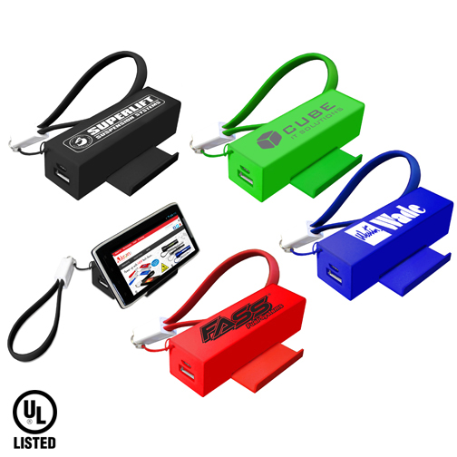 Slide Door Power Bank with Cable - Closeout