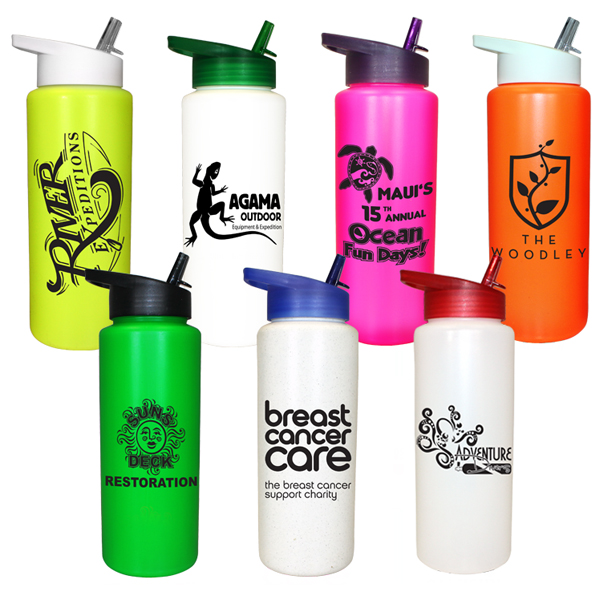 32 oz. Sports Bottle with Straw Cap Lid