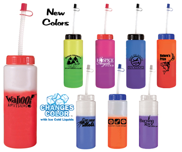 32 oz. Mood Sports Bottle with Flexible Straw