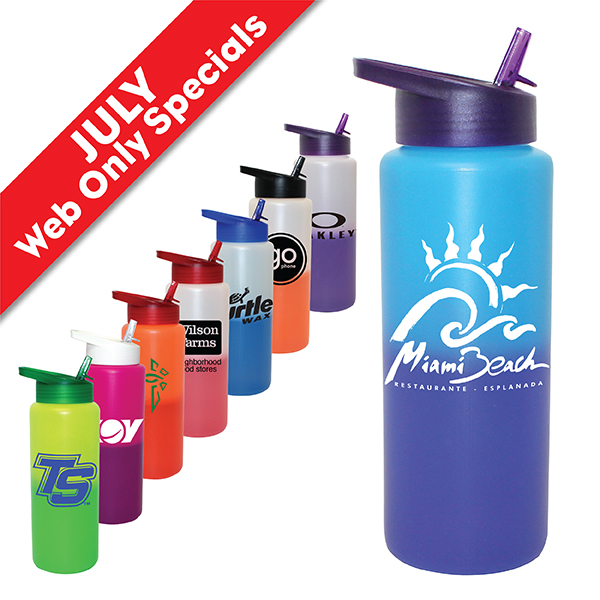 32 oz. Mood Sports Bottle with Straw Cap Lid