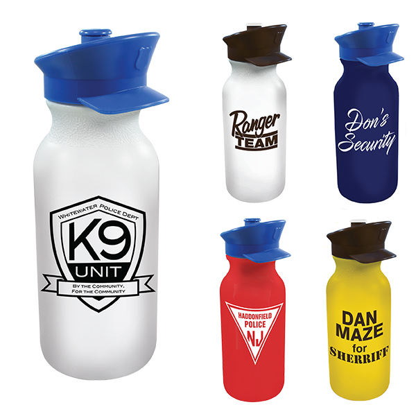 20 oz. Value Cycle Bottle with Police Hat Push 'n Pull Cap