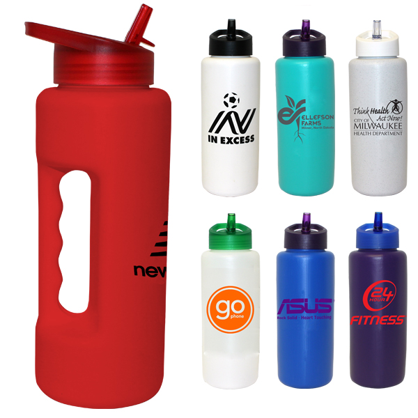 32 oz. Grip Bottle with Straw Cap Lid