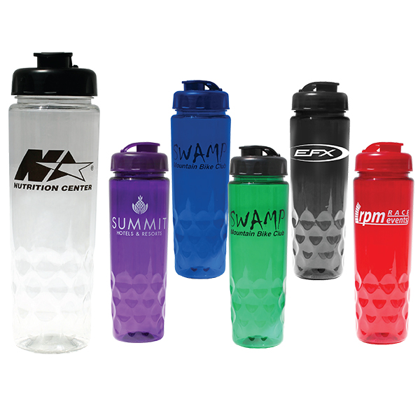 24 oz. Poly-Saver PET Bottle with Flip Top Cap