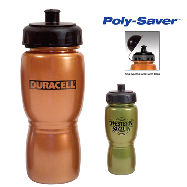 18 OZ. Metallic Poly-Saver Mate Bottle - Closeout