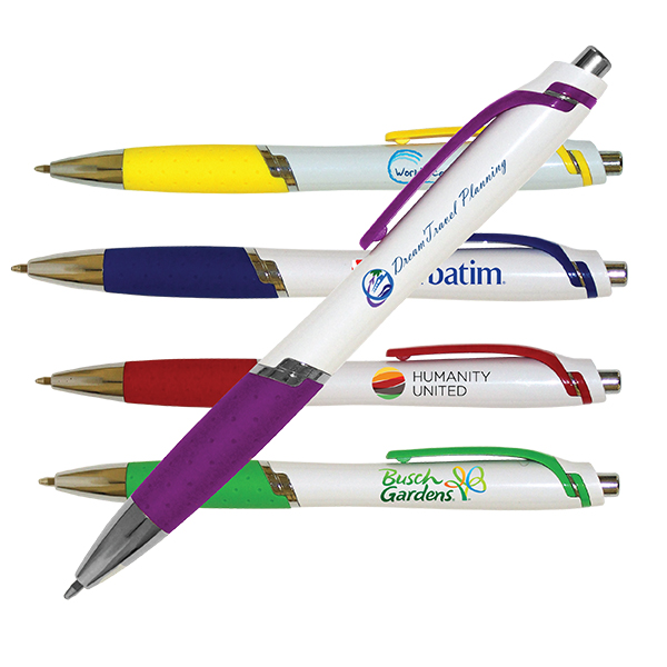 White Aura Grip Pen, Full Color Digital