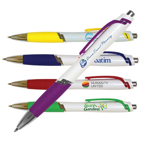 White Aura Grip Pen, Full Color Digital