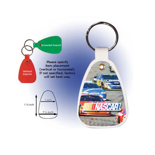 Saddle Key Tag, Full Color Digital