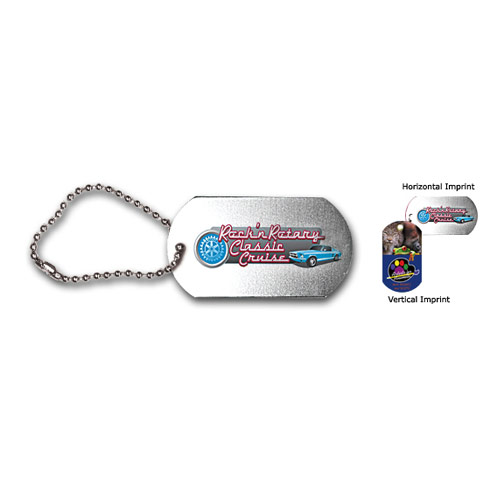 "Dog tag , 4-1/2"" ball chain, FCD"