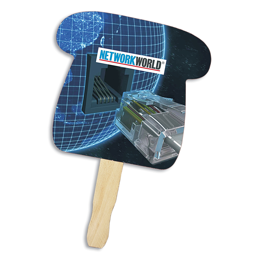 Telephone Shape Hand Fan, Full Color Digital