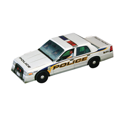 Foldable Die-cut Police Car, Full Color Digital