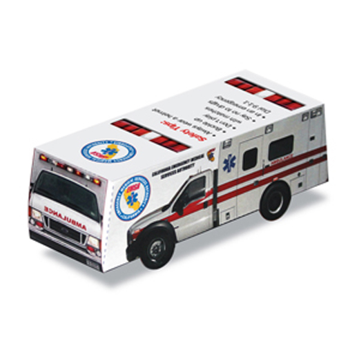 Foldable Die-cut Ambulance,Full Color Digital