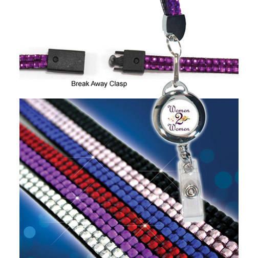 Blingyard With Retractable Badge Holder,Full Color Digital