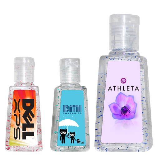 Mini Sanitizer Bottles, Full Color Digital