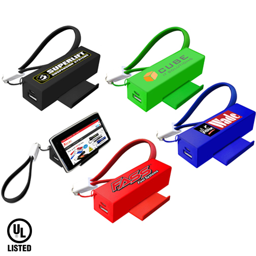 Slide Door Power Bank with Cable, Full Color Digital