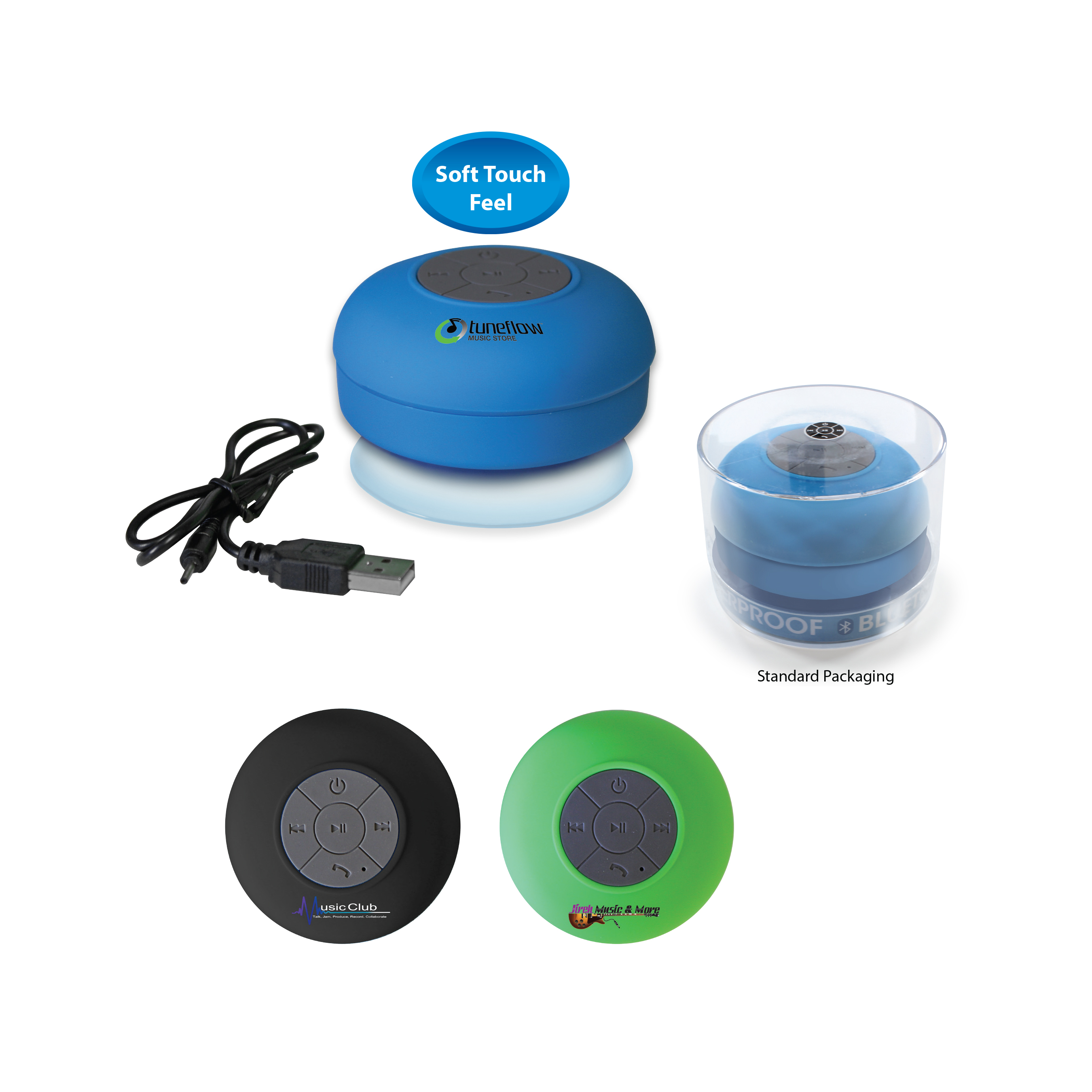 Halcyon™ Waterproof Bluetooth™ Speaker, Full Color Digital