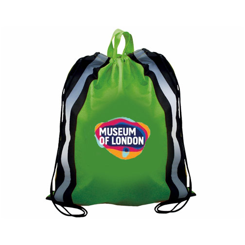 NW Reflective Drawstring Backpack, Full Color Digital