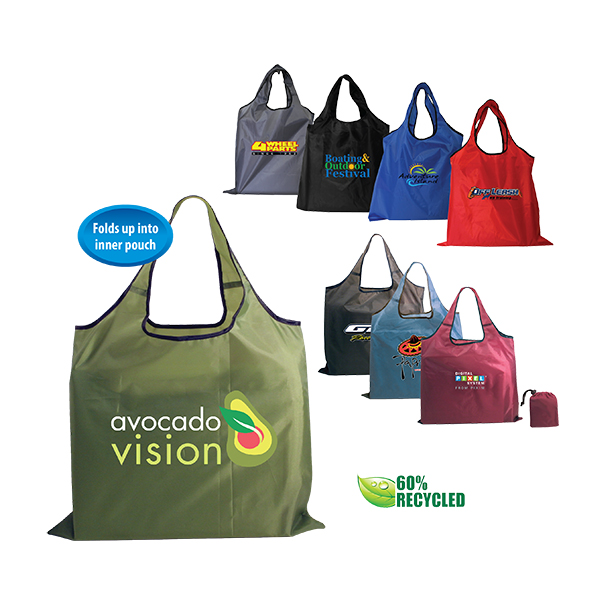 RPET Fold-Away Carryall, Full Color Digital
