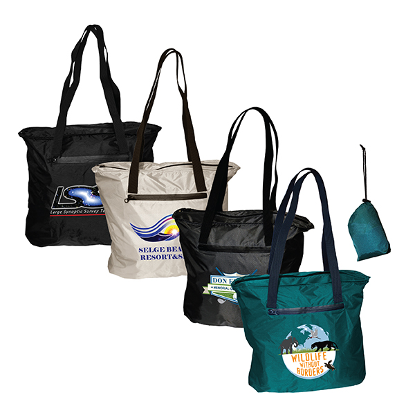 Otaria™ Packable Tote Bag, Full Color Digital
