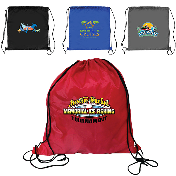 RPET Drawstring Backpack, Full Color Digital