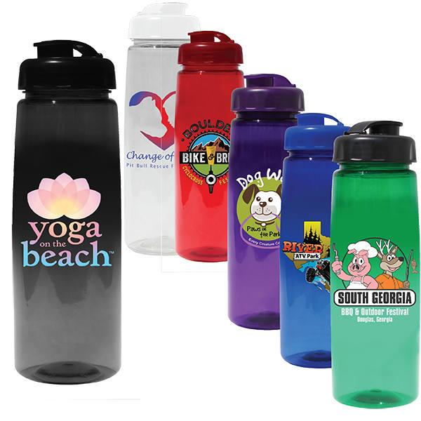 30 oz. Poly-Saver PET Bottle with Flip Top Cap, Full Color Digital