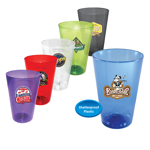 16 oz. Plastic Pint Glass, Full Color Digital