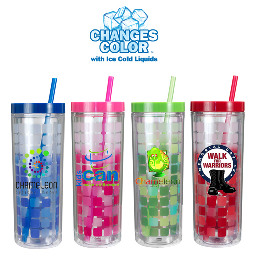 16 Oz. Mood Cube Tumbler, Full Color Digital