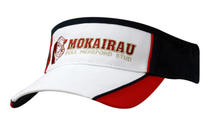 Brushed Heavy Cotton Tri Colour Visor