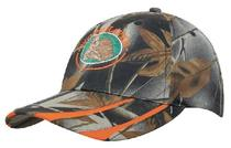 Leaf Print Camouflage with Laminated Two Tone Visor