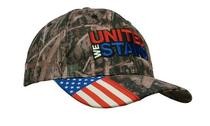 True timber camouflage with woven usa flag peak