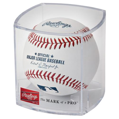 Rawlings Official Major League Baseball in a display cube